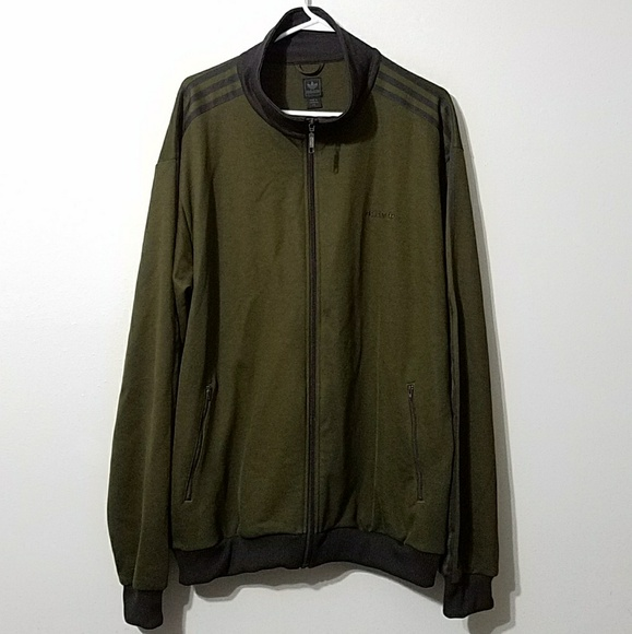 Green Adidas Striped Jacket Track Olive kZTOPwuXi
